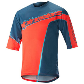 Alpinestars Crest Bike Jersey Shortsleeve Men orange/blue